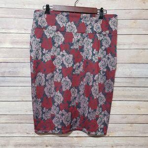 Floral Cassie Pencil Skirt
